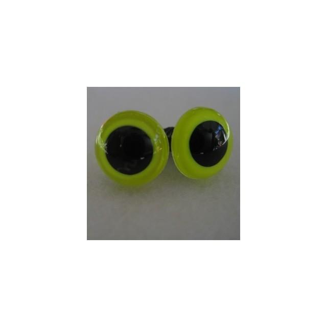 veiligheidsoogjes 13.5mm lemon