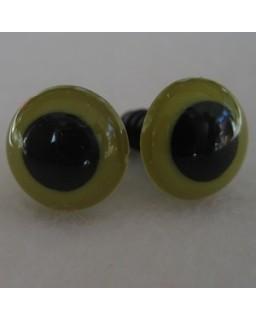 veiligheidsoogjes 13.5mm olijfgroen