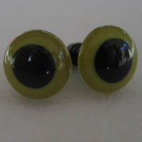 Veiligheidsoogjes 13,5mm Olijfgroen