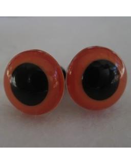 veiligheidsoogjes 13.5 mm oranje
