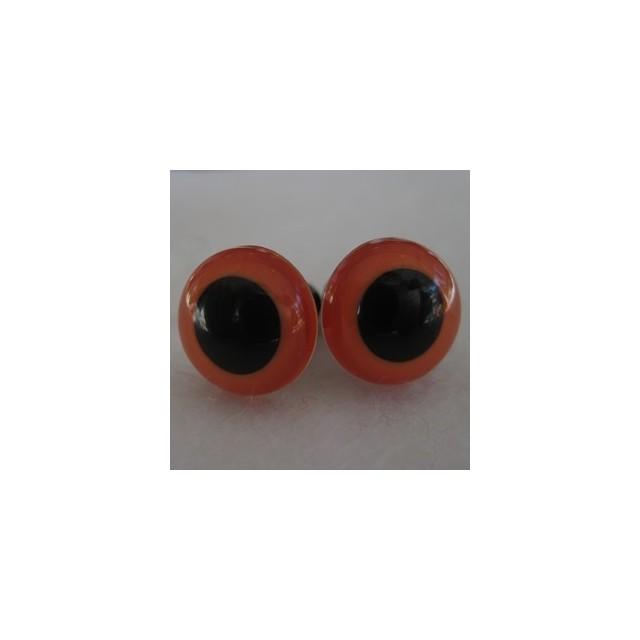 veiligheidsoogjes 13.5mm oranje