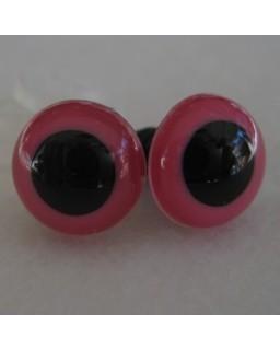Veiligheidsoogjes 13,5mm Pink