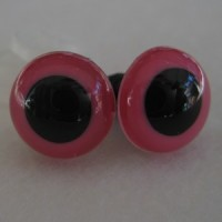 veiligheidsoogjes 13.5 mm pink