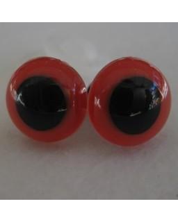 veiligheidsoogjes 13.5 mm rood