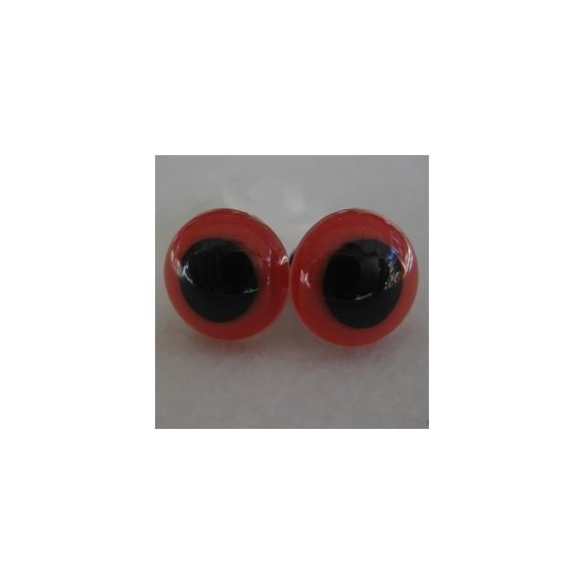 veiligheidsoogjes 13.5mm rood