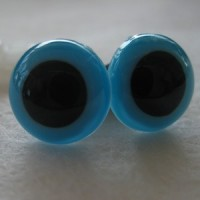 veiligheidsoogjes 13.5 mm turquoise
