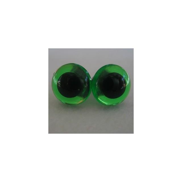 veiligheidsoogjes 15mm groen transparant