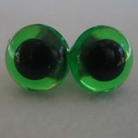 veiligheidsogen 15 mm groen transparant