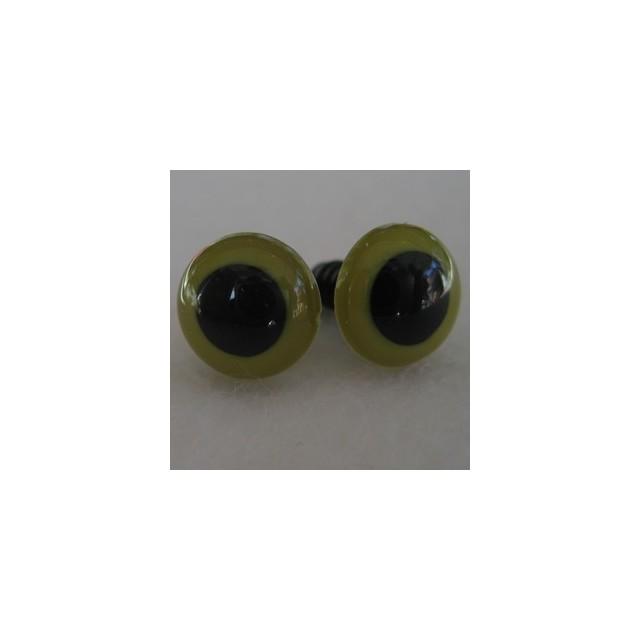 veiligheidsoogjes 15mm olijfgroen