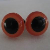 veiligheidsogen 15 mm oranje