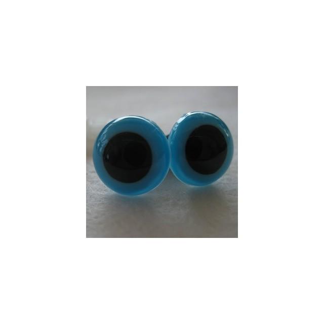 veiligheidsoogjes 15mm turquoise