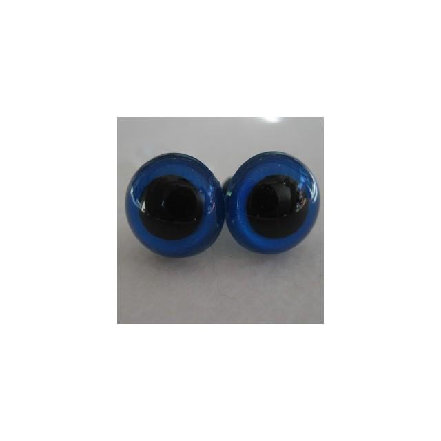 veiligheidsoogjes 16,5mm blauw