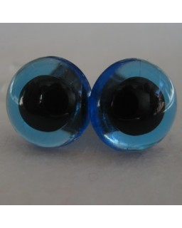 veiligheidsogen 16,5mm blauw transparant