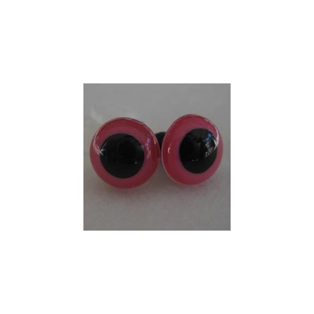 veiligheidsoogjes 16,5mm pink