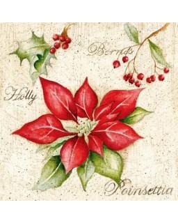 servet Kerstbloem
