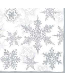 servet Sneeuw zilver
