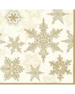 servet Sneeuw goud