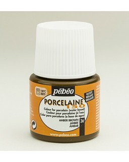 PeBeo Porcelaine 150 Glossy Amber Brown