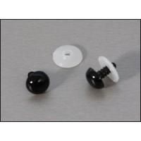 veiligheidsoogjes 15 mm zwart