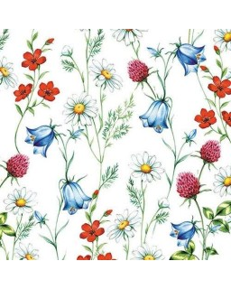 Servet Mixed Wild Flowers White