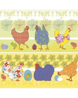 Servet Modern Chickens Yellow
